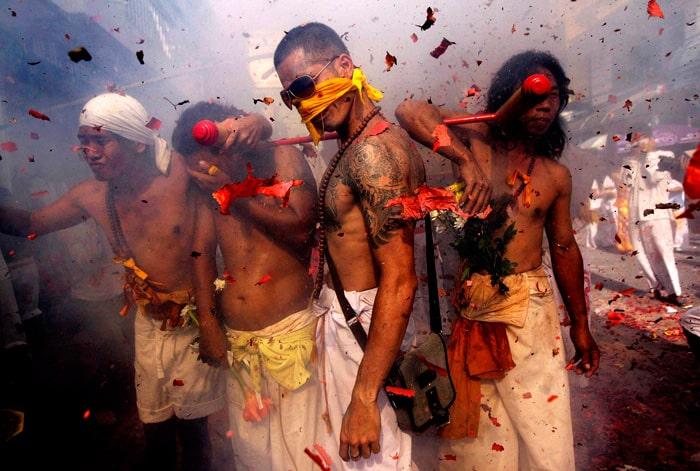 Огненная церемония. Вегетарианский Фестиваль. Пхукет