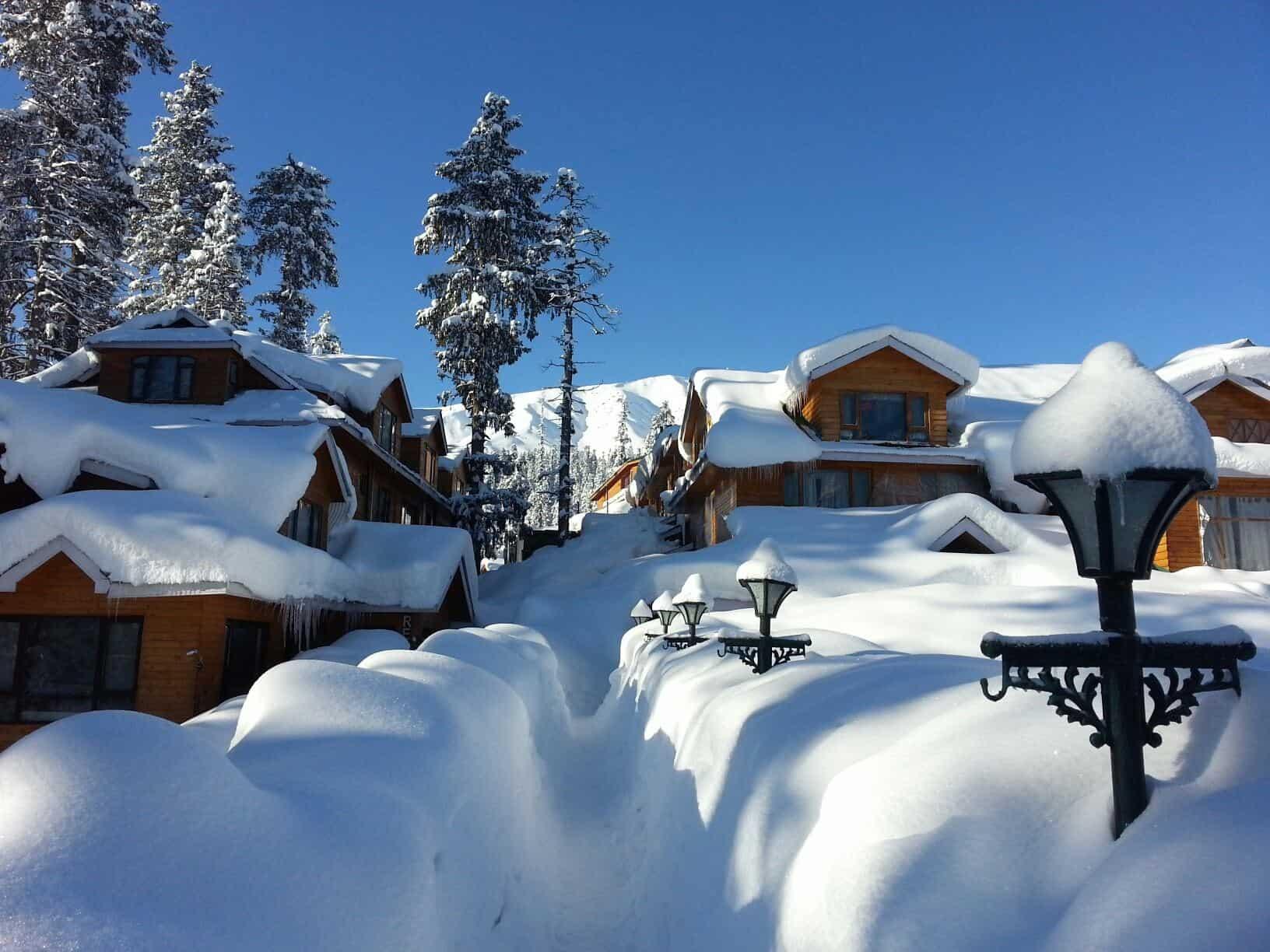 Снег в Гульмарге