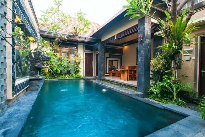 Типичная вилла на Бали с приватным бассейном