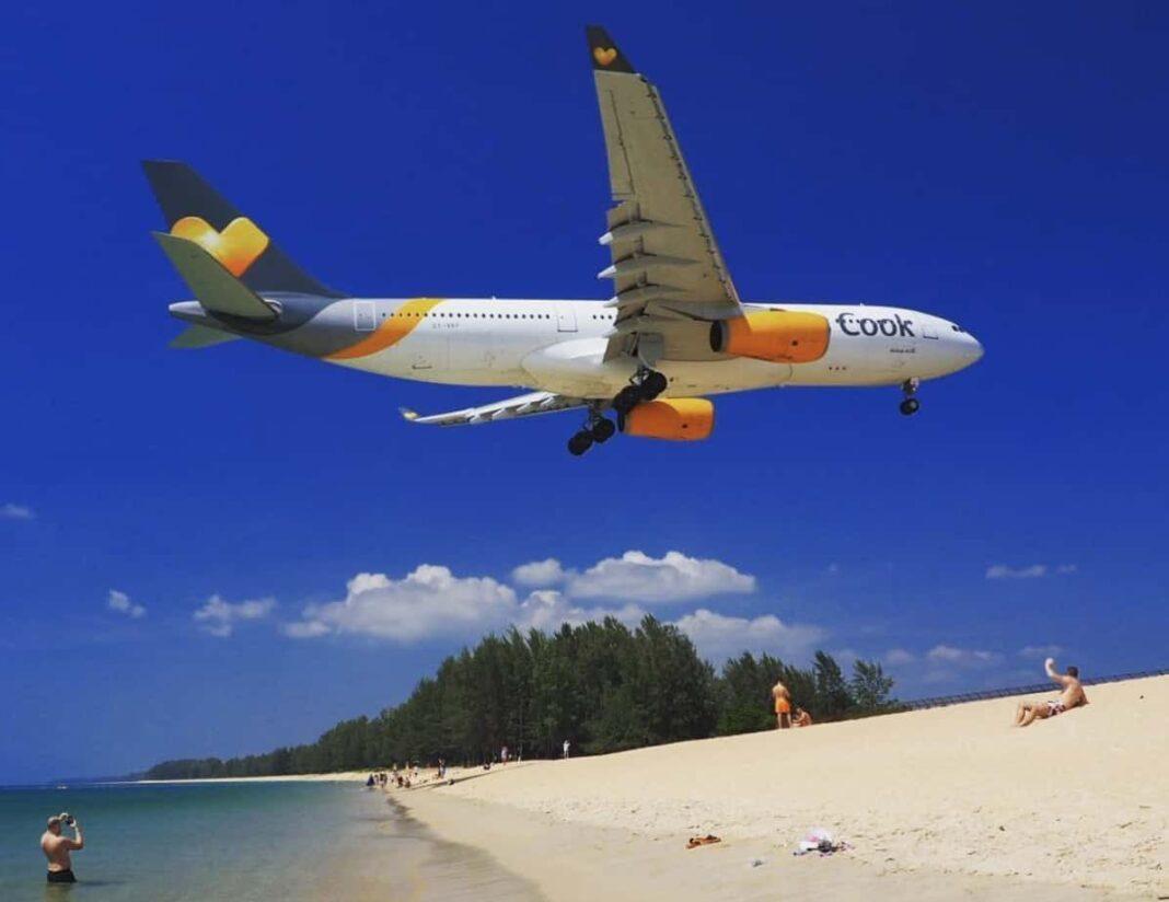 Пляж Маи Каоб где садятся самолеты