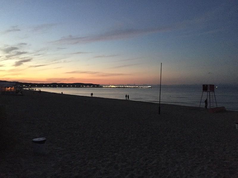 Сопот. Пляж. Закат