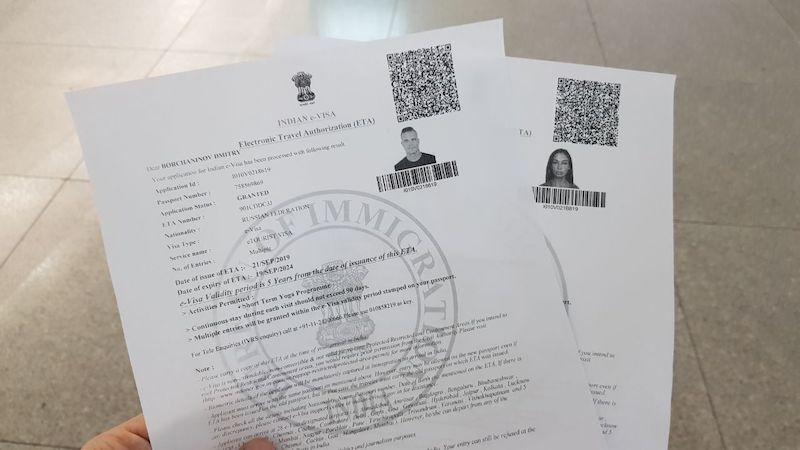 Подтверждение электронной визы в Индию (E-Visa)