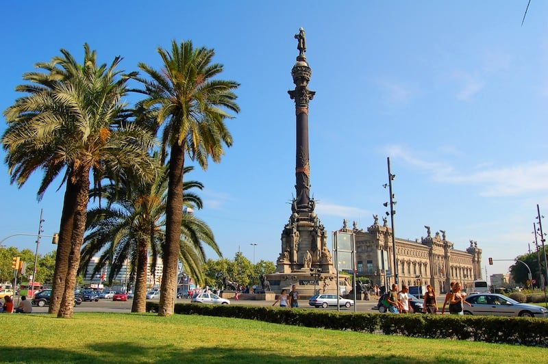 Mirador de Colom - обзорная площадка на монументе Колумба